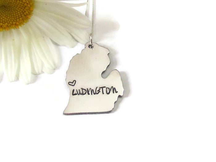 Michigan State City Necklace - Ludington