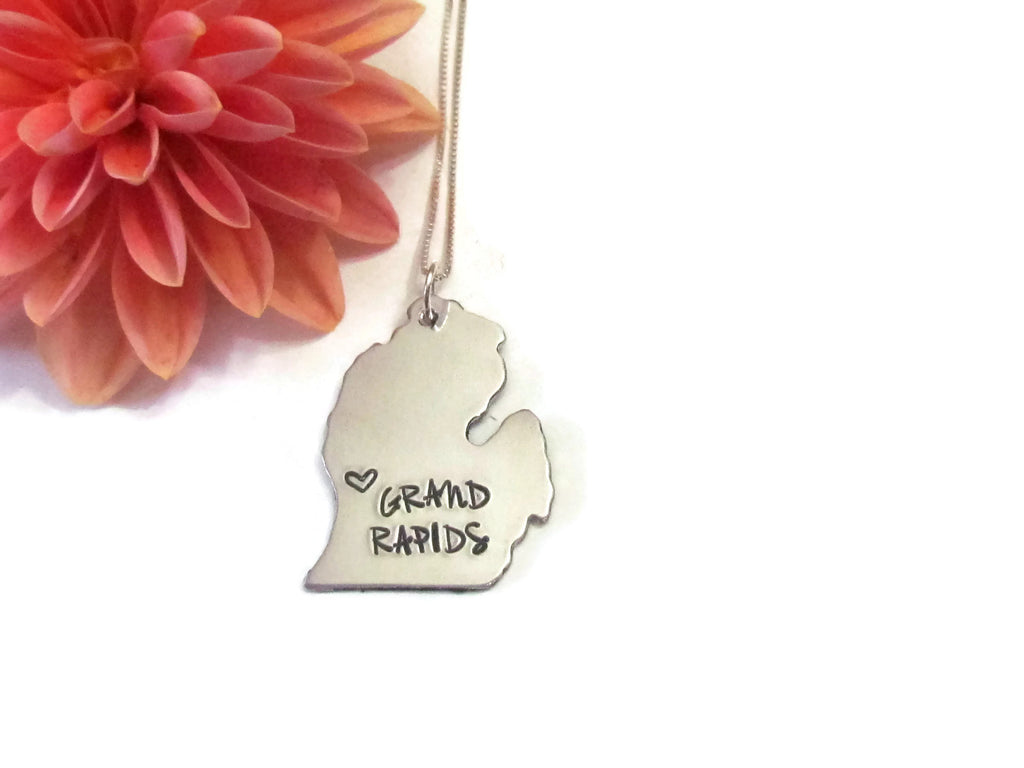 Michigan State City Necklace - Grand Rapids