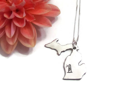 Michigan State Lighthouse Necklace