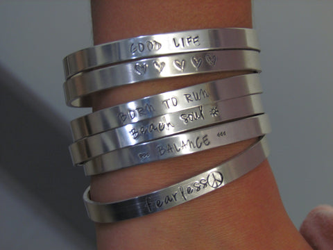 Inspirational Quote Cuff Bracelets