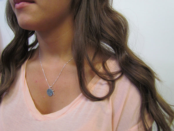 Dove & Cross Necklace - Personalized