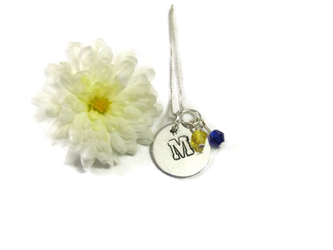 Michigan Go Blue Necklace