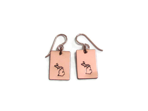 Michigan Copper Earrings