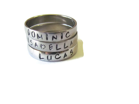 Name Ring - Stackable Rings