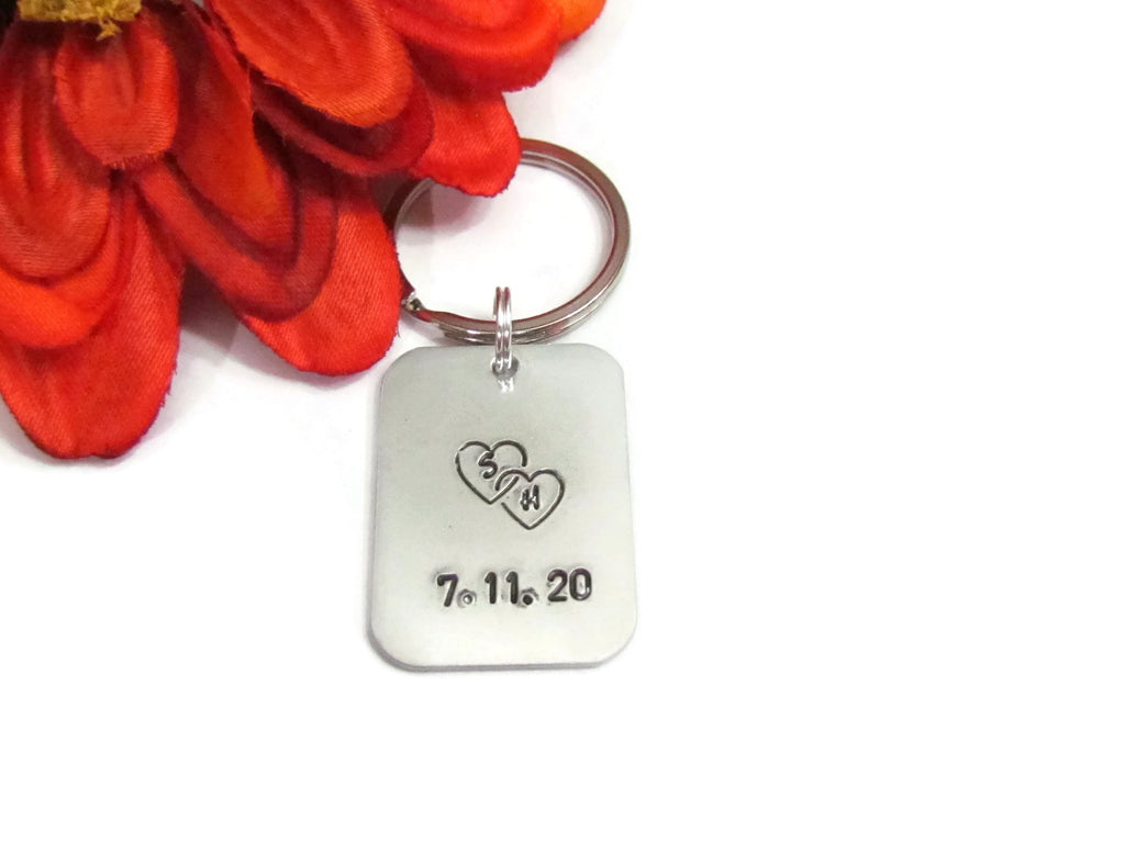 Double Love  Keychain - Personalized