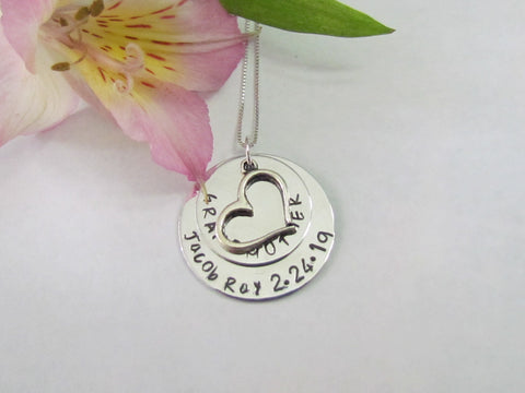Grandmother New Baby Necklace