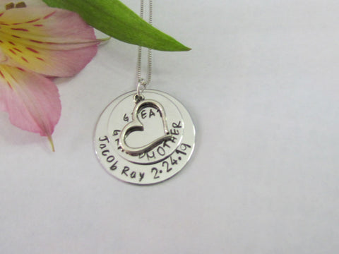 Great Grandmother New Baby Necklace