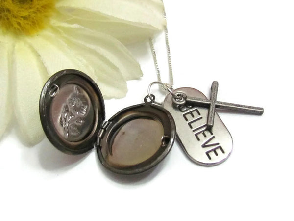Believe Locket Necklace
