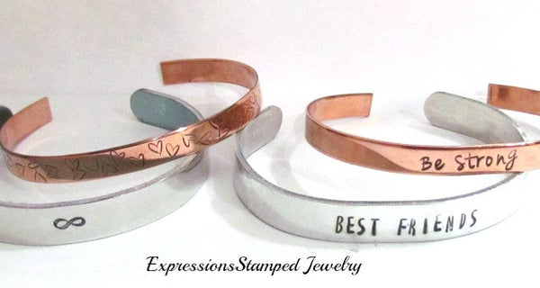 Variety of our mixed metals cuff bracelets