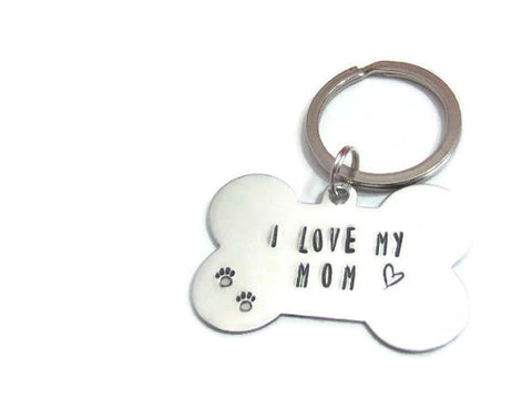 I Love My Mom Pet Tag