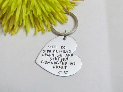 Sisters Long Distance Keychain