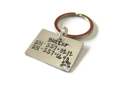 Dog Tag Paw Print Cut Out - Personalized Pet Tag - Pet ID Tag