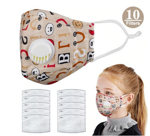 Reusable Mask With Replacable 5 Layer Filter-Kids
