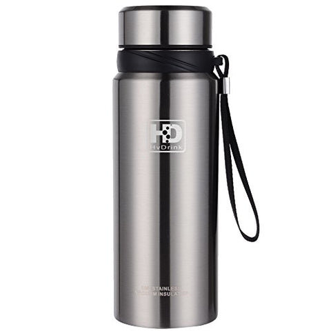 Insulated Stainless Steel Water Bottle Wide Mouth Vacuum Thermos, 27 oz) - AugustusMan