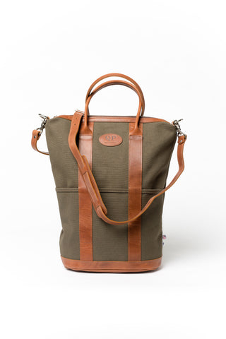 Helmet Bag - Large - Tan and Green - AugustusMan