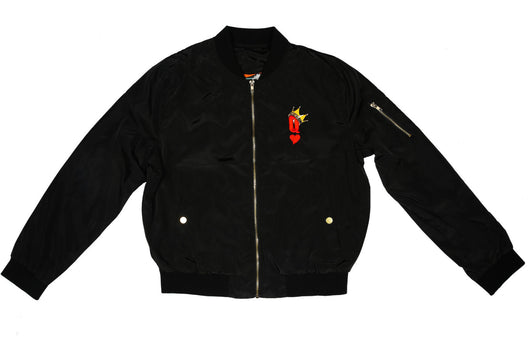 Queen of Hearts Ladies Bomber Jacket
