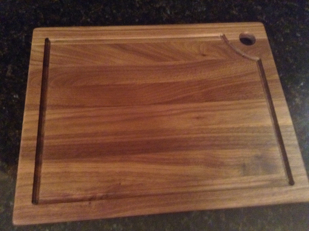 "Handcrafted Dark Walnut Board 13"" x 16"""