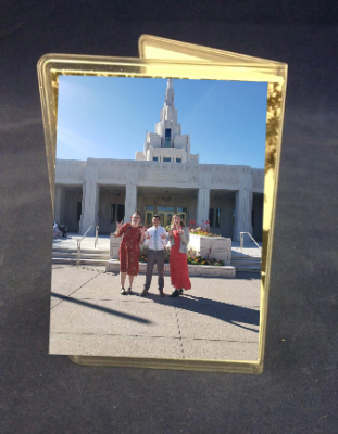 Temple Recommend Holder Custom Picture Vertical