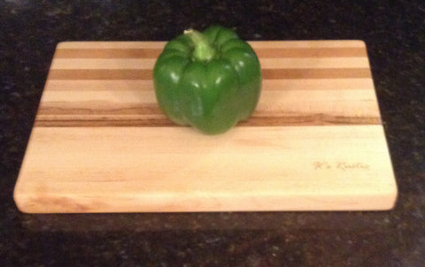 "Handcrafted Hard Maple Cutting Board 8"" x 12"""