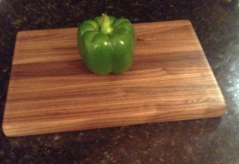 "Handcrafted Dark Walnut Cutting Board 8"" x 12"""