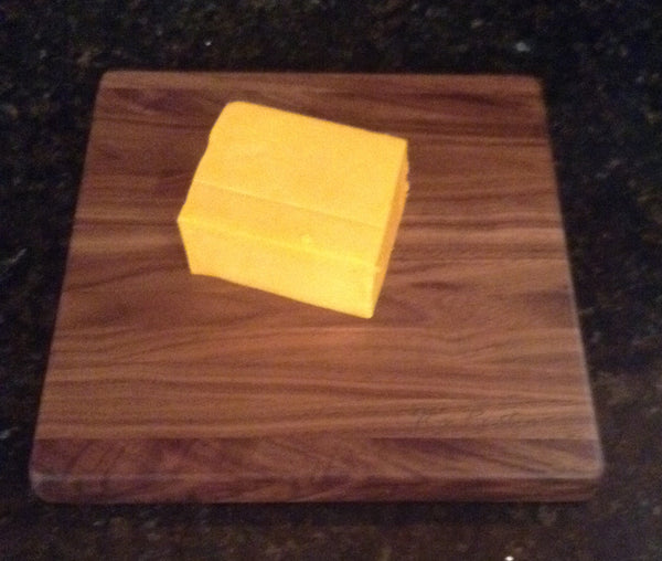 "Handcrafted Walnut Cheese Board 8"" x 8"""