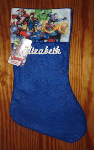 Personalized Christmas Stocking Advengers