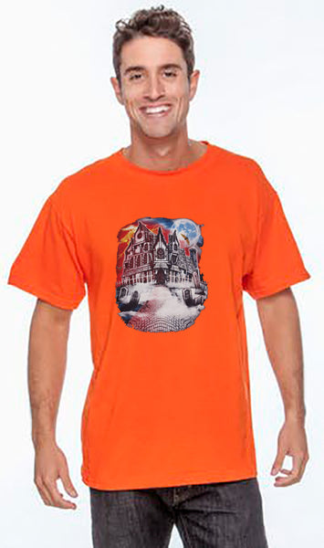 Halloween  Short Sleeve T Shirt  Haunted House