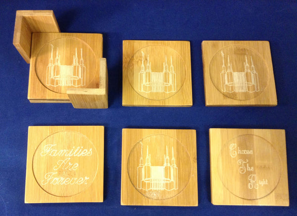 Wood Coasters Washington DC Temple Set