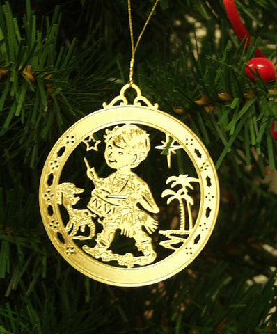 Personalized Little Drummer Boy High Polished Brass Custom Christmas Ornament