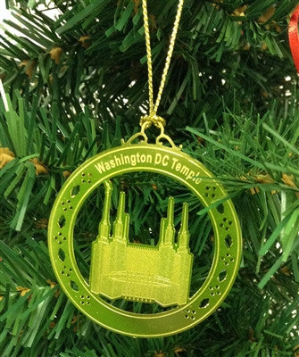 Personalized Was DC Temple High Polished Brass  Custom Christmas Ornament