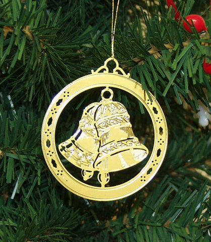 Personalized Bell High Polished Brass Custom Christmas Ornament