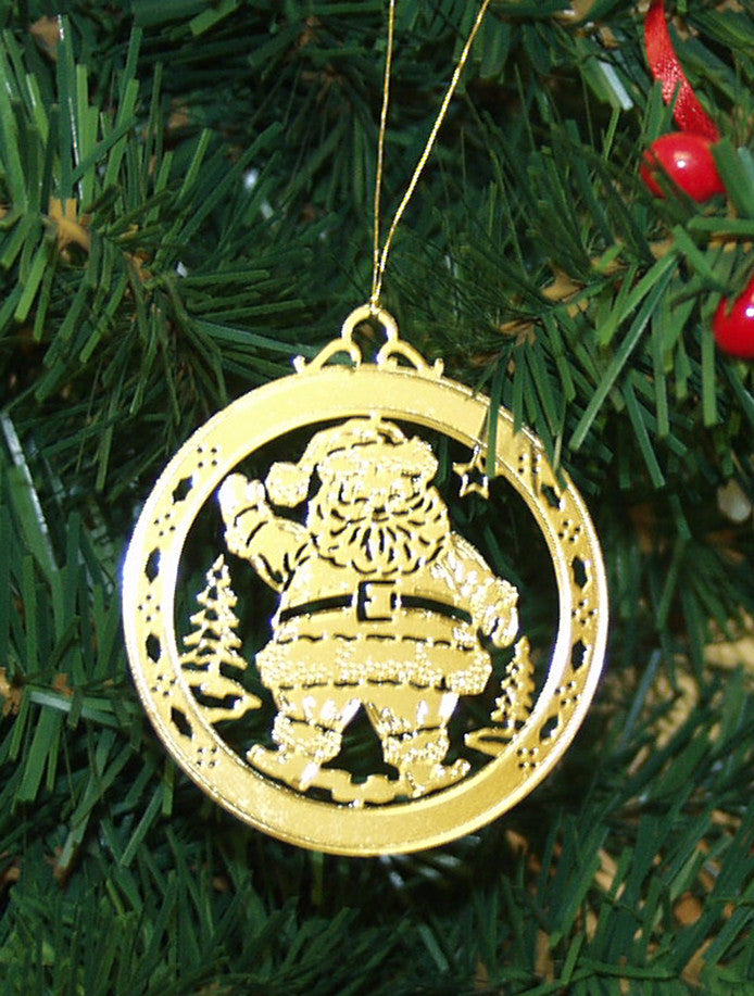 Personalized Santa Claus High Polished Brass Custom ...