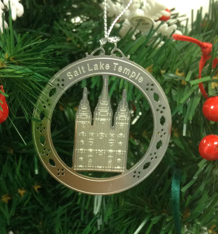 Personalized Salt Lake Temple Stainless Steel Custom Christmas Ornament