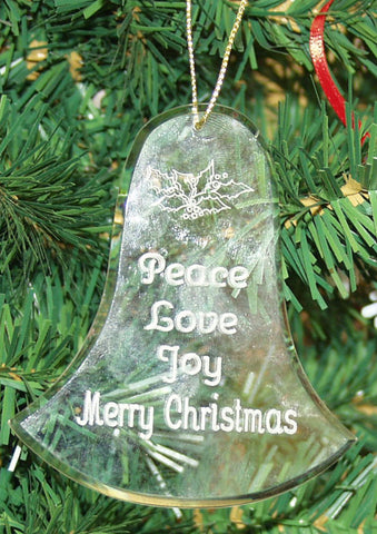 Crystal Glass Ornament Bell