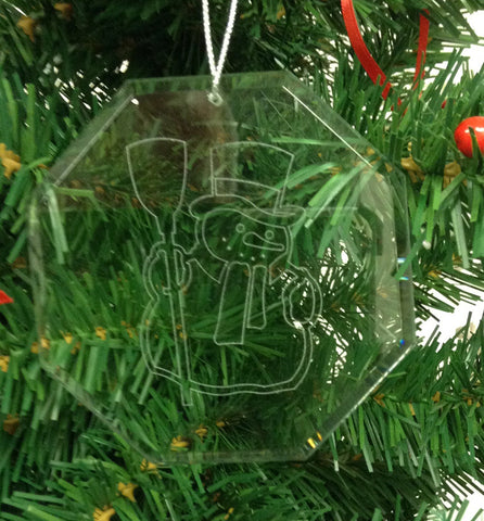 Crystal Glass Ornament Christmas Snowman 2