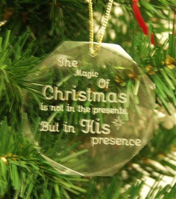 Crystal Glass Ornament Magic of Christmas