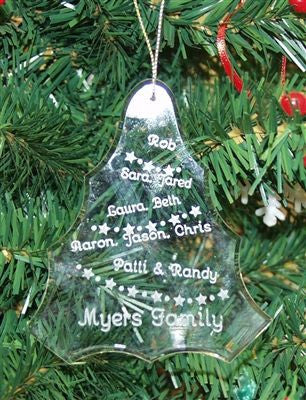 Crystal Glass Ornament Tree