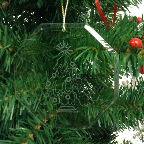 Crystal Glass Ornament Christmas Tree