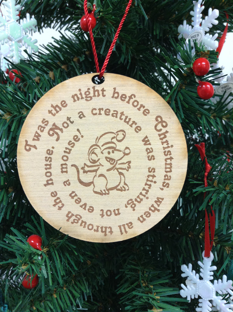 Night Before Christmas Wooden Christmas Ornament