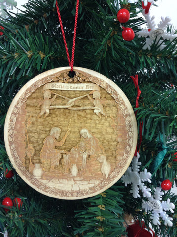 "3D Nativity 4"" Wooden Christmas Ornament"