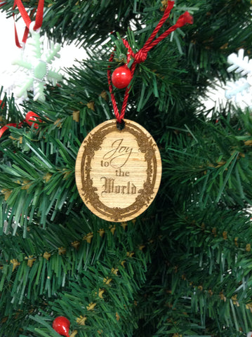Joy To The World Wooden Christmas Ornament