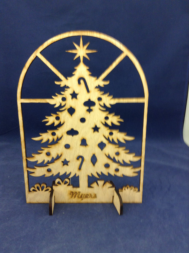 "10"" Personalized Wooden Christmas Tree"