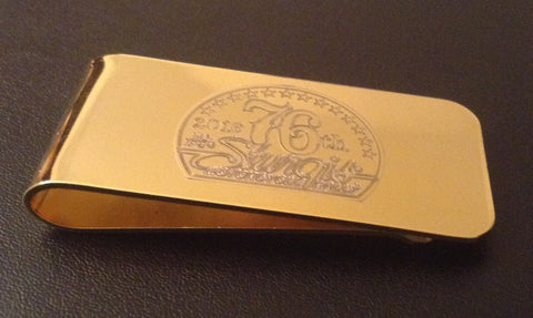 High Polished Brass Money Clip
