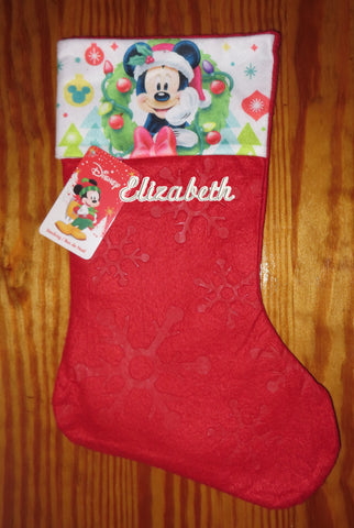 Personalized Christmas Stocking Mickey