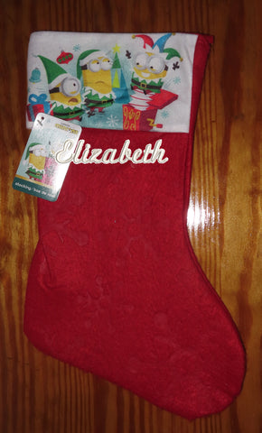 Personalized Christmas Stocking Minions
