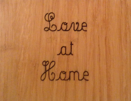 Wood Plaque Love at Home