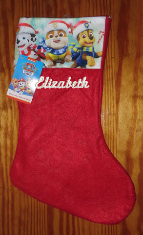 Personalized Christmas Stocking Pal Patrol