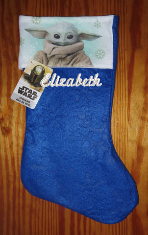 Personalized Christmas Stocking Star Wars Baby Yoda