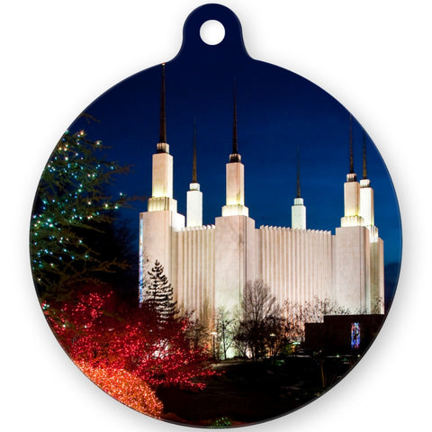 Metal Christmas Ornament Round