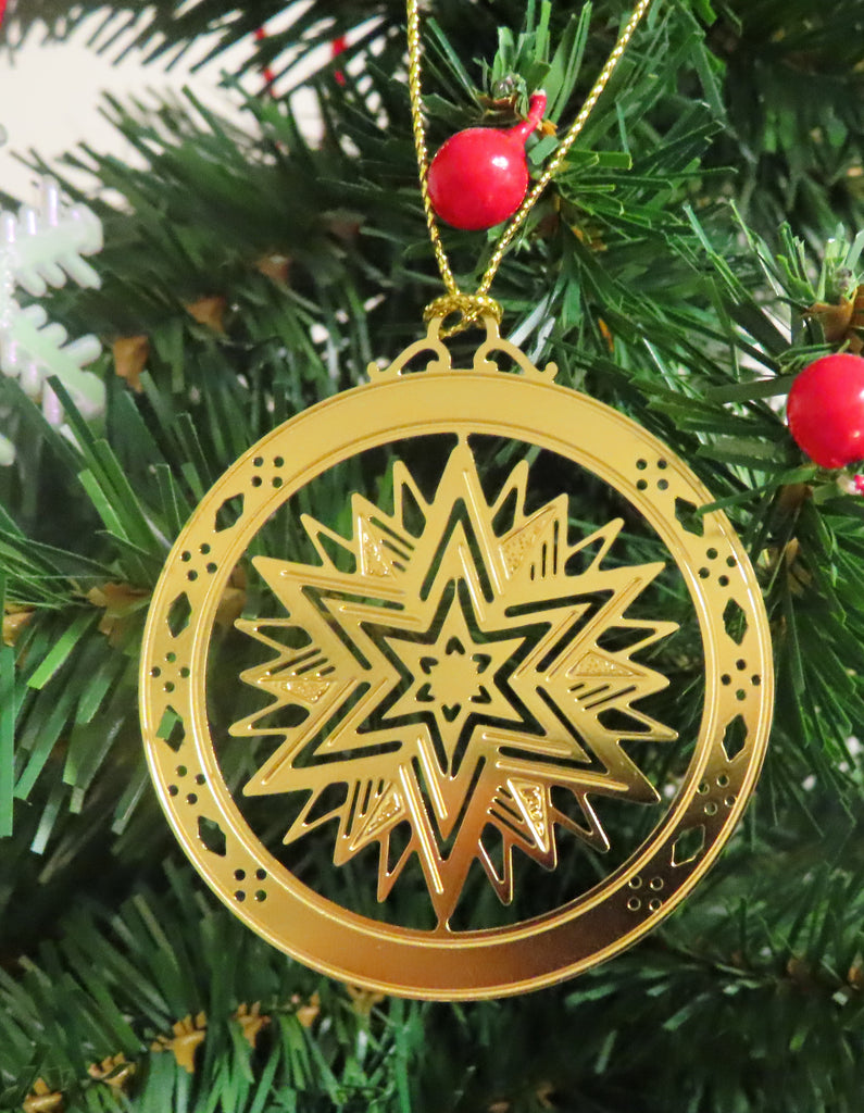 Personalized Star High Polished Brass Custom Christmas Ornament